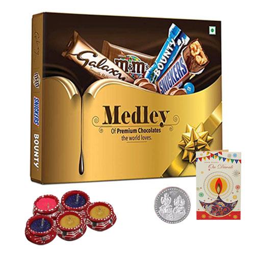 Amazing Diwali Gift Hamper of Chocolates, Diya and More
