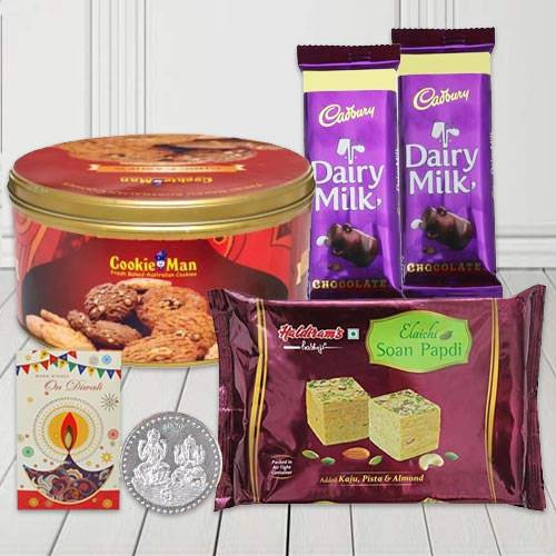 Delicious Combo Pack of Cookies, Chocolates, Sweets N Lots for Diwali