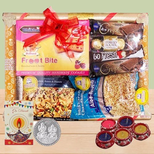Divine Treat Hamper of Chocolates N Snacks for Diwali