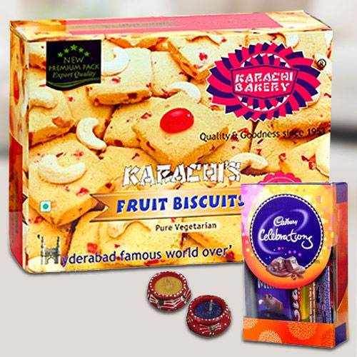 Karachis Cookies with Chocolates for Diwali