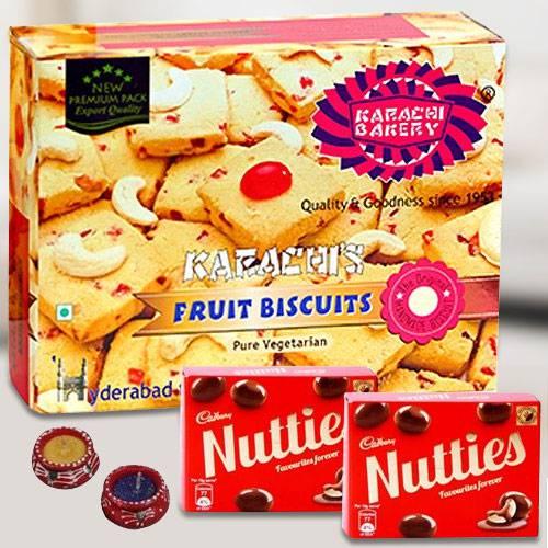 Tasty Fruit Biscuit with Nutties n Diya