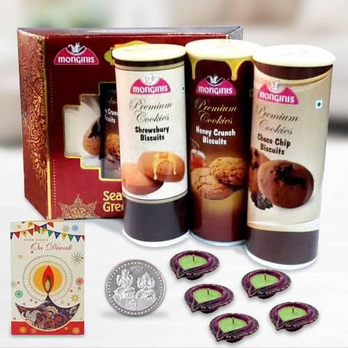 Crsipy Cookies Pack with Diya n Card