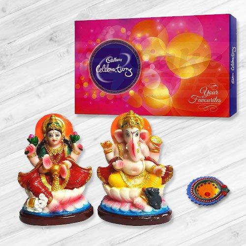 Ganesh Lakshmi with Cadbury�s Celebration