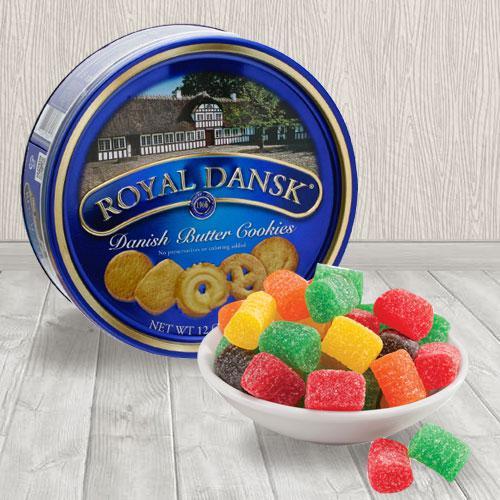 Nectarous Christmas Jelly N Danish Cookies Combo
