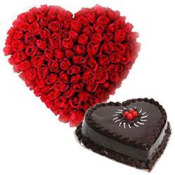 Sensational Dutch Roses with Chocolate Truffle Cake