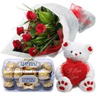 Exciting Warm and Affectionate Combo Gift Set