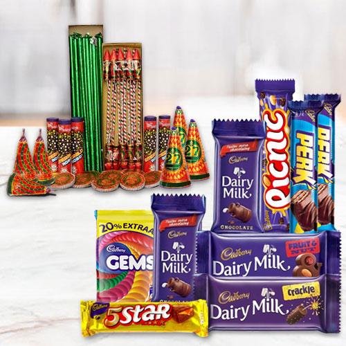 Zesty Hamper of Assorted Cadbury Chocolates and Crakers