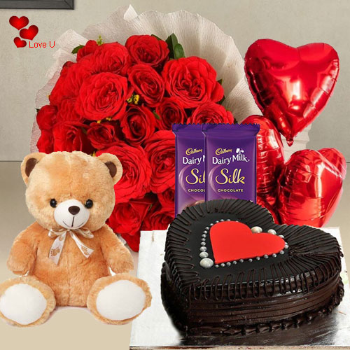 Online Combo Gift Hamper for Rose Day