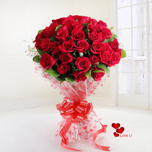 Rose Day Surprise Gift of Roses  Bouquet