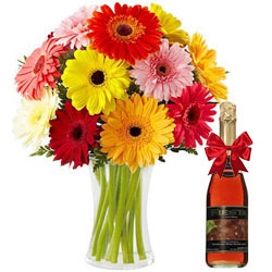 Moments Turned Special with Colourful Gerberas and Fruit Juice