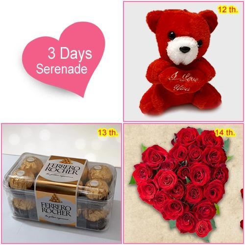 Send Online Valentines Day Serenade Hamper