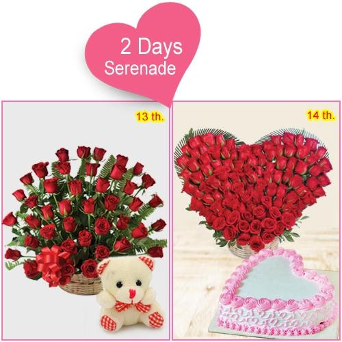 Send 2-Day Serenade Combo for Lady Love