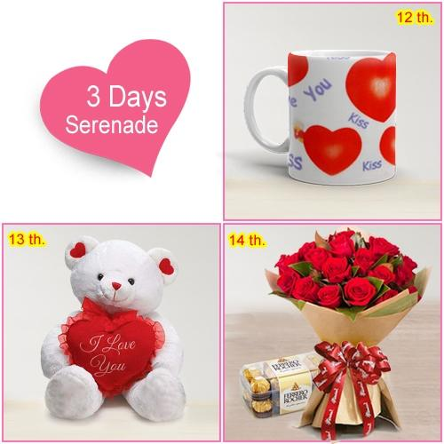Wish Her with 3 Day Serenade Gifts Online