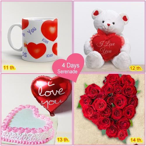 Shop Online for 4 Day Serenade Gift for V-Day