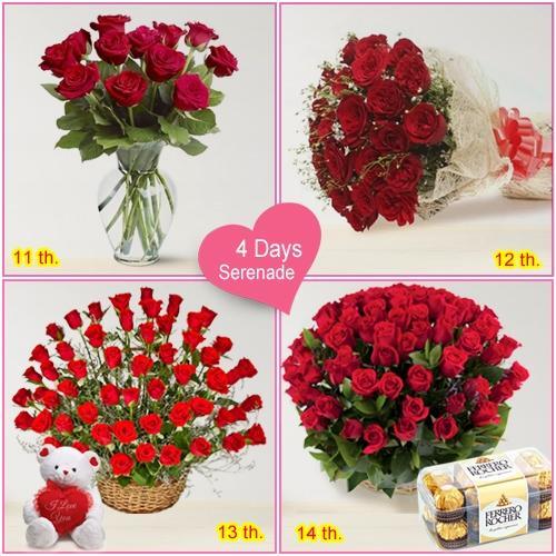 Valentines Day Gift of 4-Day Serenade Hamper