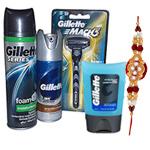 Refreshing Gillette shaving pack with Rakhi and Roli Tilak Chawal