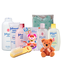 Dashing Johnson Baby Care Gift Arrangement