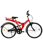 Luxurious Black and Red BSA Rocky Bicycle