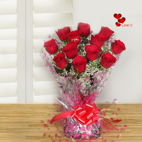 Order Red Roses Hand Bunch for Lady Love