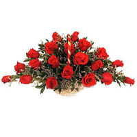Eye-Catching Twenty Four Archangelic Red Roses