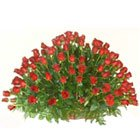 Gorgeous Arrangement of 150 Dutch Roses in Red