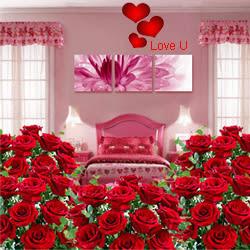 Deliver Room Full of Roses Arrangement Online for Rose Day