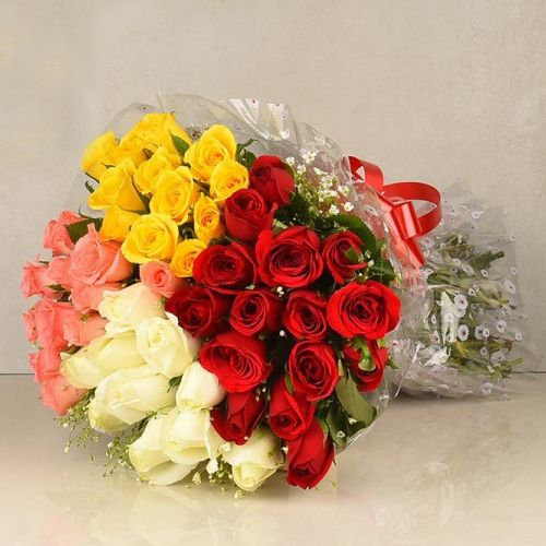 Shop Mixed Roses Bouquet Online