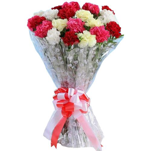 Astounding Bunch of Mixed Carnations