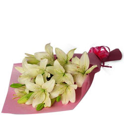 Petite Come Together White Lilies Bundle
