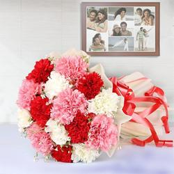 Fresh Carnations Gift Bunch in Mixed Colour