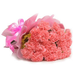 Pristine Bunch of Pink Coloured Carnations <br>