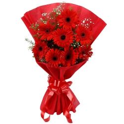 Luminous Pure Passion Bouquet ofGerberas