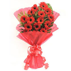 Luminous Pure Passion Bouquet of�Gerberas