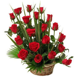 Captivating Unending Passion Roses Basket