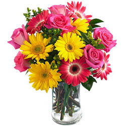 Memorable Moments Flowers in a Glass Vase