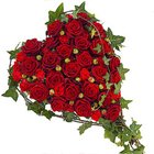 Magical Heart Shaped Red Roses Premium Arrangement