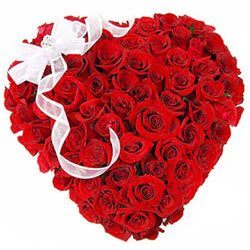 Awe-Inspiring 50 Heart Shaped Roses Arrangement