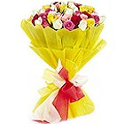 Glorious Tropical Bliss 24 Mixed Roses Collection