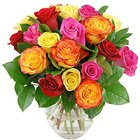 Stunning Sweet Smiles Mixed Roses in a Vase