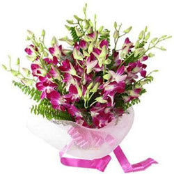 Long-Lasting Rich Purple Orchids Bouquet