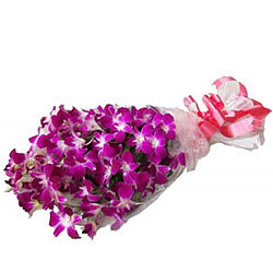 Fashionable Purple Orchid Stems Bouquet
