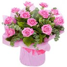 Petite and Attractive Bouquet of Pink Roses