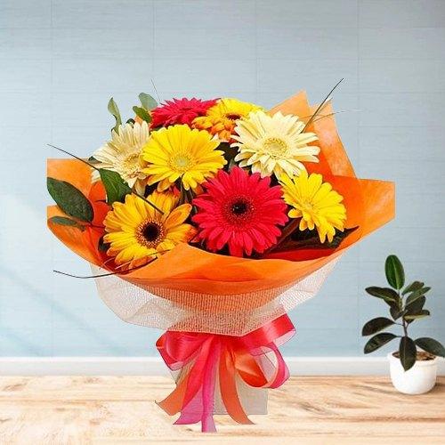 Flourishing Pomp Gerberas Bouquet