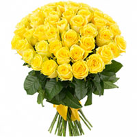 Beautiful Yellow Color Roses in a Bunch