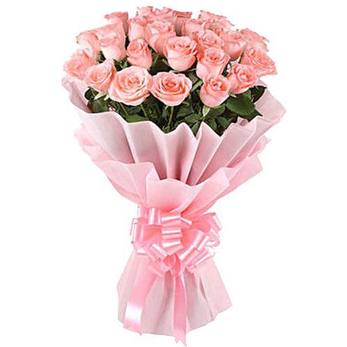 Amazing Pink Color Roses Bouquet