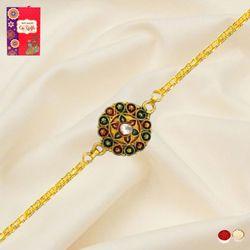 Elegant Gold Plated Rakhi