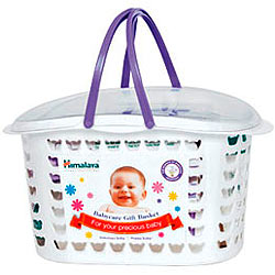 Tending-the-Cherub Baby Care Gift Basket from Himalaya