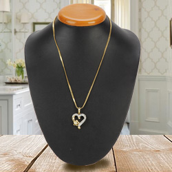 Love You Forever Heart Shaped Gold Pendant
