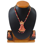Expensive Personalize Red Jewel Necklace Set