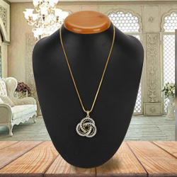 Graced-by-Affection Brouillon Diamond Pendant with Chain